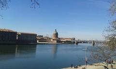 Vistas del río Garona. Toulouse. Occitania (Francia)