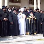 الراهب القمص حياة الأثيوبي المحرقي مع قداسة البابا شنودة وأبونا باولوس بطريرك أثيوبيا (8)