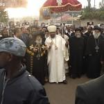 الراهب القمص حياة الأثيوبي المحرقي مع قداسة البابا شنودة وأبونا باولوس بطريرك أثيوبيا (1)