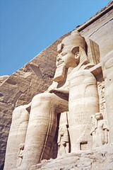 Le grand temple d'Abou Simbel (Égypte)