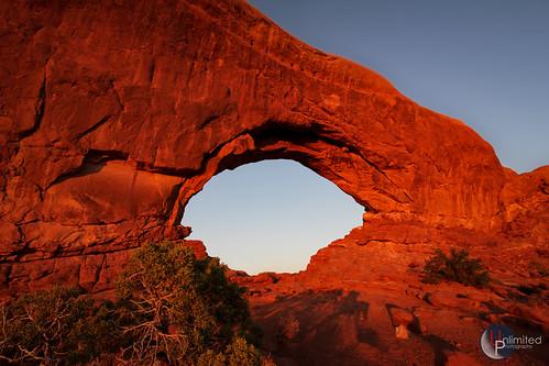 North Windows Arch at sunset