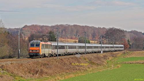 BB 26168 Train GL 4215 Strasbourg-Lyon à Ballersdorf
