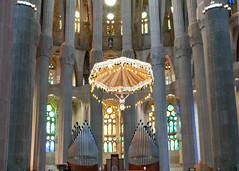The Altar and the organ pipes at La Sagrada Familia - Barcelona