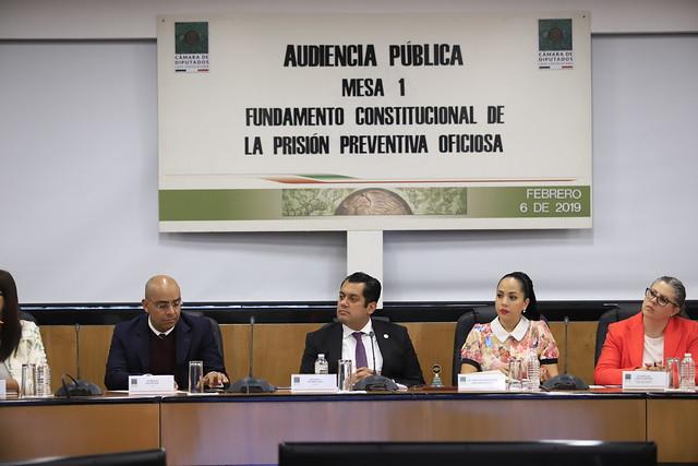 06/02/2019 Audiencias Públicas/Mesa 1/Fundamento Constitucional de la Prisión Preventiva Oficiosa
