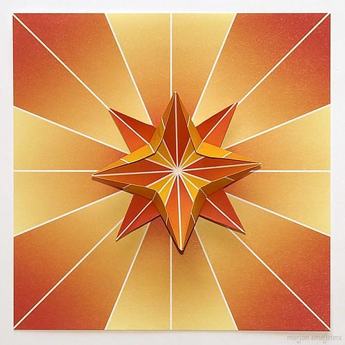 Origami Eight-Point Star (James Sadoka)