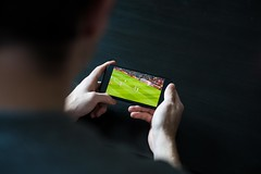 Streaming a Live Football Match on Mobile Phone
