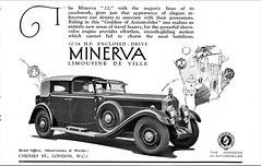 1929 Minerva 32 Limousine de Ville (U.K. Ad)