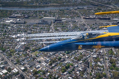 The Blue Angels and the Thunderbirds flights over New York City, New Jersey and Philadelphia, April 28, 2020