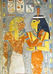 Horemheb face à Hathor (Tombe de Horemheb, Vallée des Rois, Égypte)
