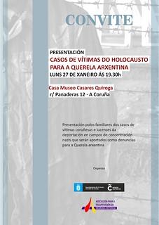 Acto de presentación de los casos de deportados españoles a campos de concentración nazis