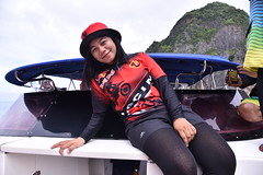 One of our guides on our boat was this lovely Thai lass