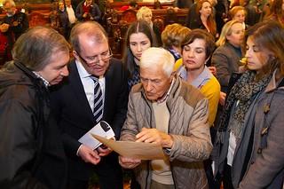Homenaje del Ayuntamiento de A Coruña a los deportados coruñeses