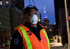 The Empire State Building Shines Blue for MTA Workers