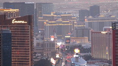 Nevada - Las Vegas:  THE STRIP - view from Stratosphere Tower  - the twilight is followed by a night full of neon lights