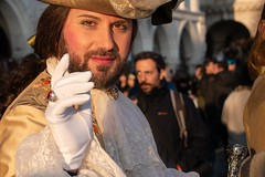 Un Signore. Seen at the 2020 Carnival of Venice