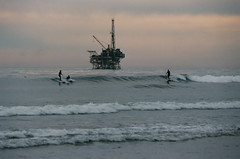 Coal Oil Point: Surfers and Platform Holly