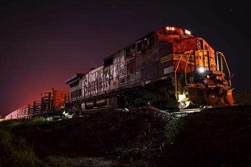 BNSF 698 in the night