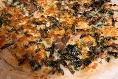 pizza - ramps and oyster mushrooms