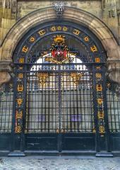 Paris  France  -  Historic Iron Gate Shield - Vintage Gate