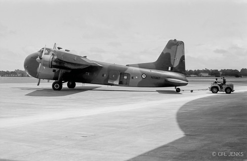 18 December 1975, RNZAF 1 Squadron Bristol Freighter NZ5907 at Whenuapai