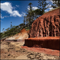 Red Cement Cliffs of Scarborough