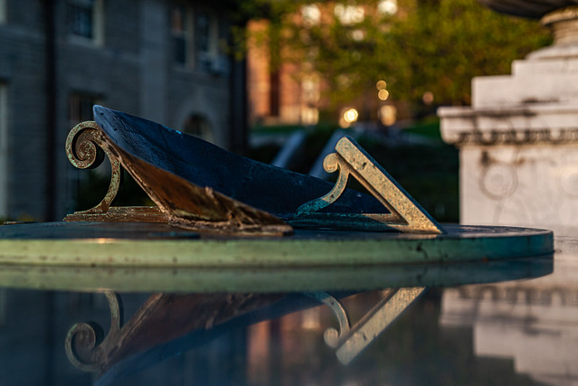 Photo:Sun Dial outside Goldwin Smith Hall Cornell, NY By frankie14850