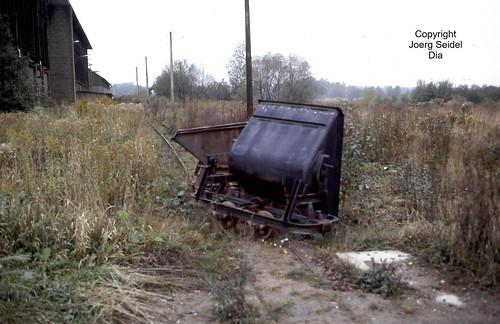DE-09399 Niederwürschnitz VEB Ziegelkombinat Karl-Marx-Stadt BT Niederwürschnitz-Lugau Feldbahn im Oktober 1991