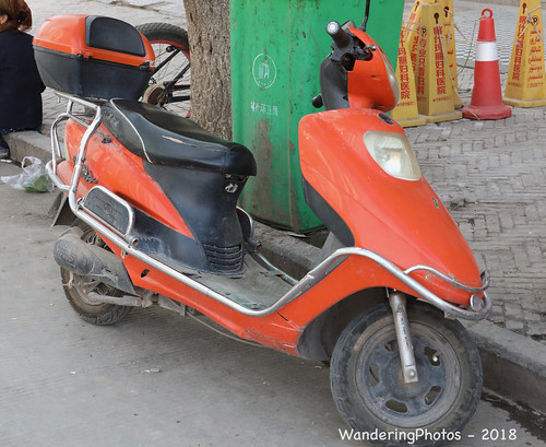 Orange Scooter - Kashgar Xinjiang China
