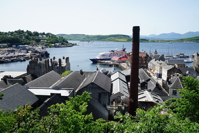 Oban Distillery view from MacCaig´s Tower