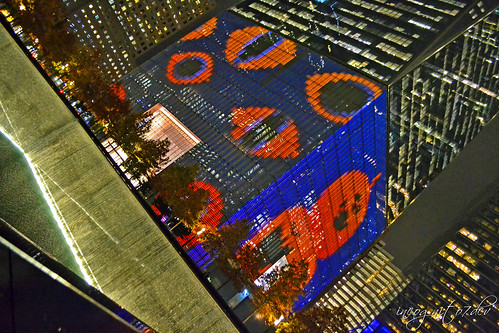 Halloween at WTC One World Trade Center Freedom Tower + 9/11 Memorial North Pool Manhattan New York City NY P00514 DSC_3415
