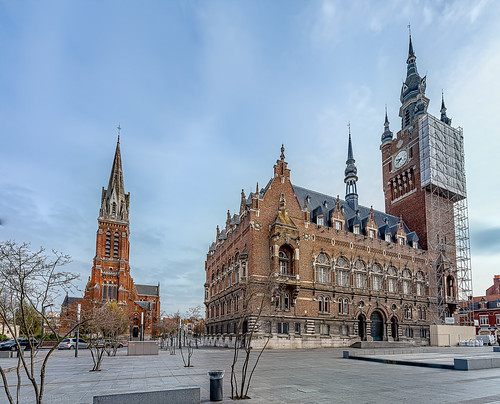 Armentieres Town Hall and Catholic Church
