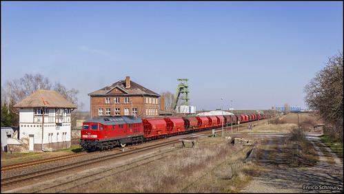 24 maart 2020 - DB Cargo 233 452 - Ilberstedt