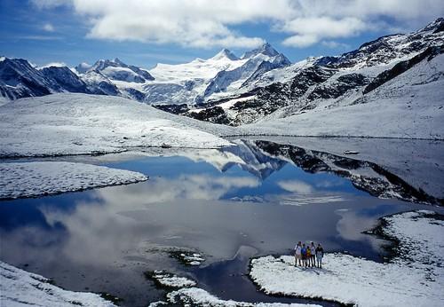 Alpine landscape after a summer snowfall (1999, august)