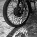 Motorcycle Wheel and Shadow