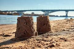 Bridge and sand