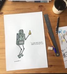 Dat Robot: 'I like big bolts and i can not lie'   #datrobot #robot #ai #robotics #LoveThyRobot #geek #nerdcore #fashion l #nerd #RobotLove #RobotTakeOver #RobotArt #joostmarcellis