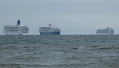 3 Cruise Liners in Weymouth Bay