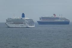 MV Aurora (P&O) & RMS Queen Mary 2 (Cunard)