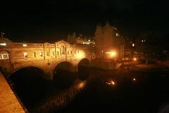Pulteney Bridge at night Bath