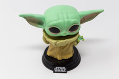 POP! The Mandalorian - Baby Yoda The Child vinyl figure for Star Wars collectors on a white background