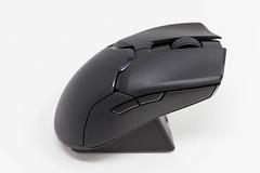 Razer Viper Ultimate Wireless Gaming Maus. Nahaufnahme vor weißem Hintergrund