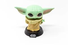 The Mandalorian - Baby Yoda. Favorite Star Wars character in a vinyl bobblehead figure