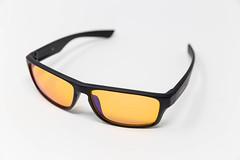 Horus X PC Gaming Brille mit Blaulichtfilter, Nahaufnahme vor weißem Hintergrund