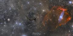 NGC6946, Barnard 150 & Sh2-129 Flying Bat nebula