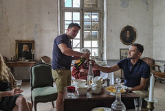 Visiting a restoring Château