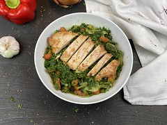 Chicken breast on Spinach