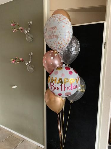 Ballonboeket Verjaardag Goud