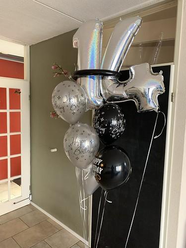 Ballonboeket Zwart Zilver Verjaardag 14 Jaar