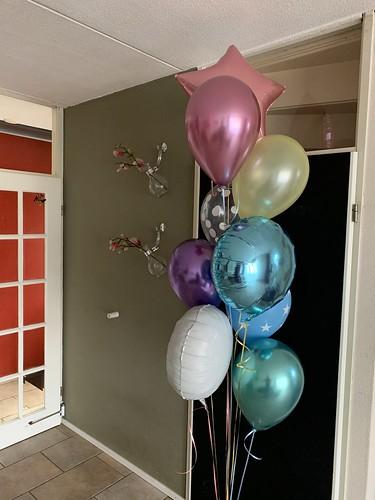 Ballonboeket Pastel Kleuren