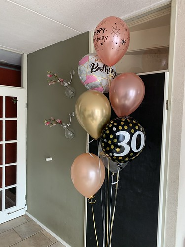 Ballonboeket Goud Rosegoud Verjaardag 30 Jaar